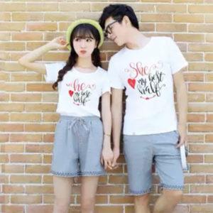 Áo thun cặp vải cotton 4 chiều VT011