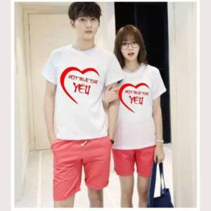 Áo thun cặp vải cotton 4 chiều VT012