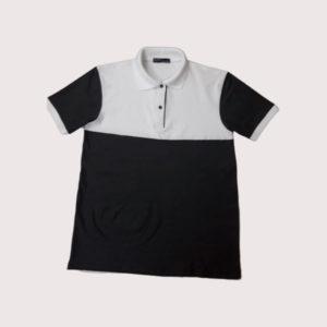 Áo thun cổ trụ nam phối màu vải cotton VT011