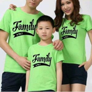 Áo thun gia đình vải cotton 4 chiều VT005