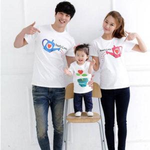 Áo thun gia đình vải cotton 4 chiều VT006