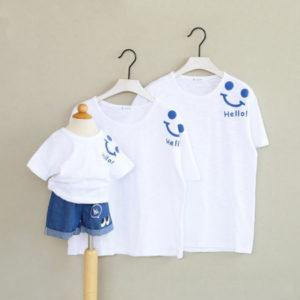 Áo thun gia đình vải cotton 4 chiều VT012