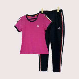 Đồ bộ thể thao nữ vải poly 2 da VT004