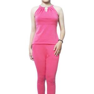 đồ bộ thun vải vảy cá pe màu hồng son