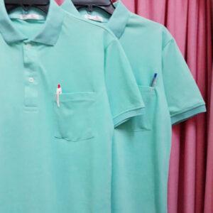 áo thun cổ trụ vt xanh ngọc
