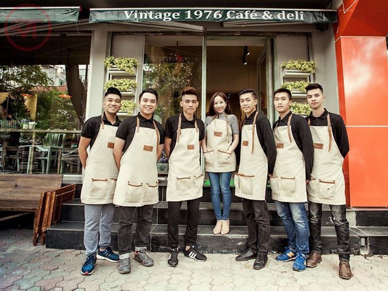 10 mẫu áo thun đồng phục quán Cafe
