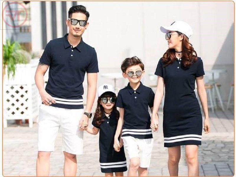 10 mẫu áo thun đồng phục gia đình