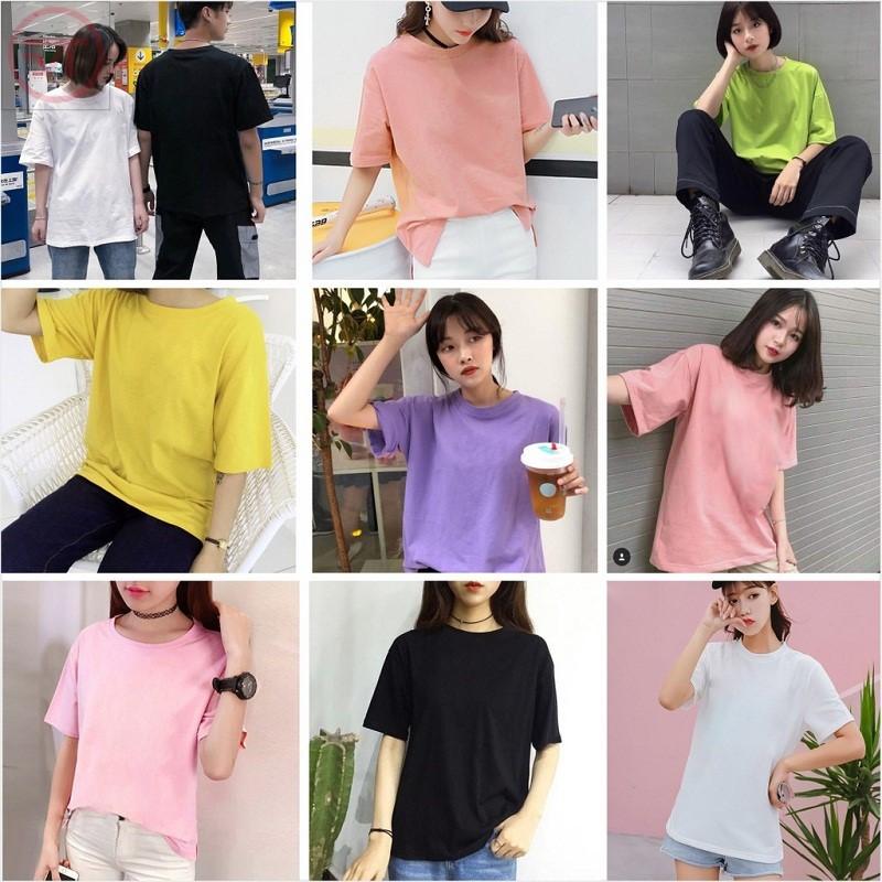 Áo thun trơn thiết kế rộng có nhiều màu sắc khác nhau