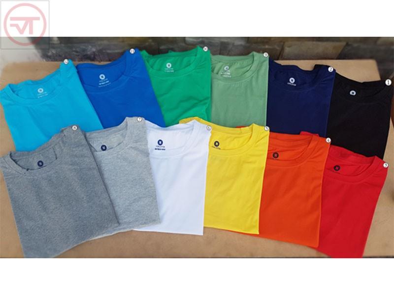 12 màu áo thun trơn