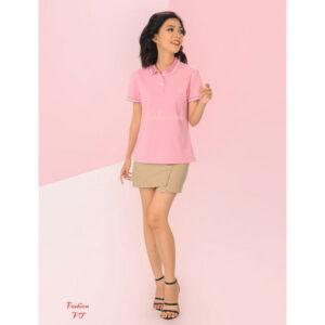 Áo polo nữ hồng