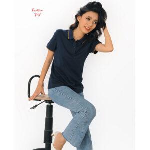 Áo polo nữ xanh đen