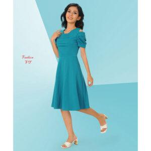 Đầm nữ màu xanh lý