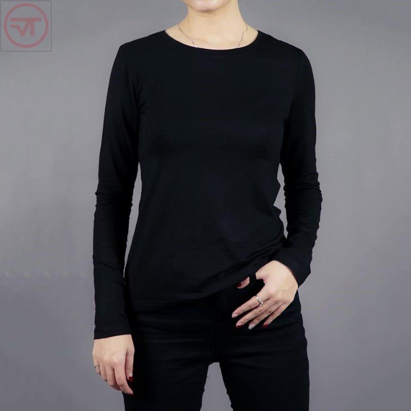 Áo thun đen dài tay